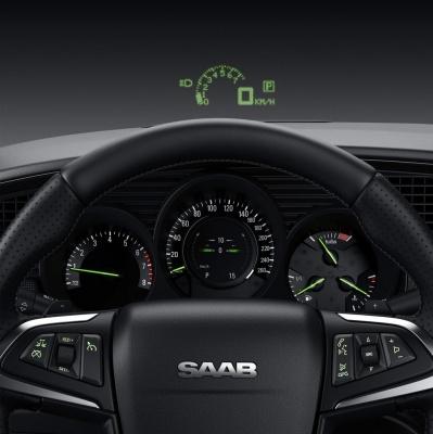 HUD технология в автомобил Сааб