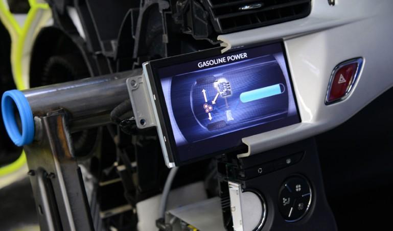 Hybrid Air информационен дисплей