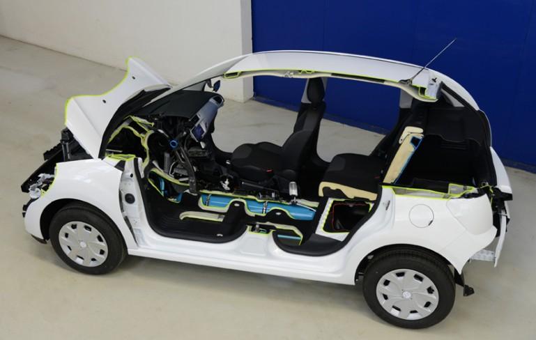 Hybrid Air автомобил - разрез