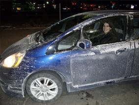 Мръсна кола зима