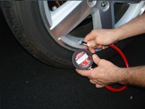 Проверка налягане на гумите